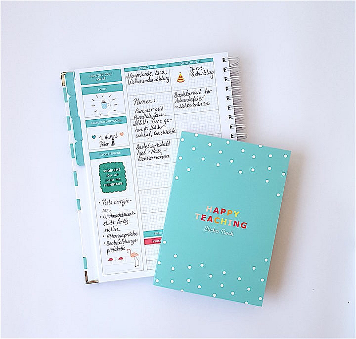 Stickerbook, Sticker, Stickerliebe, Lehrerzuebehoer, Happy Teaching-Kollektion, Lehrershop
