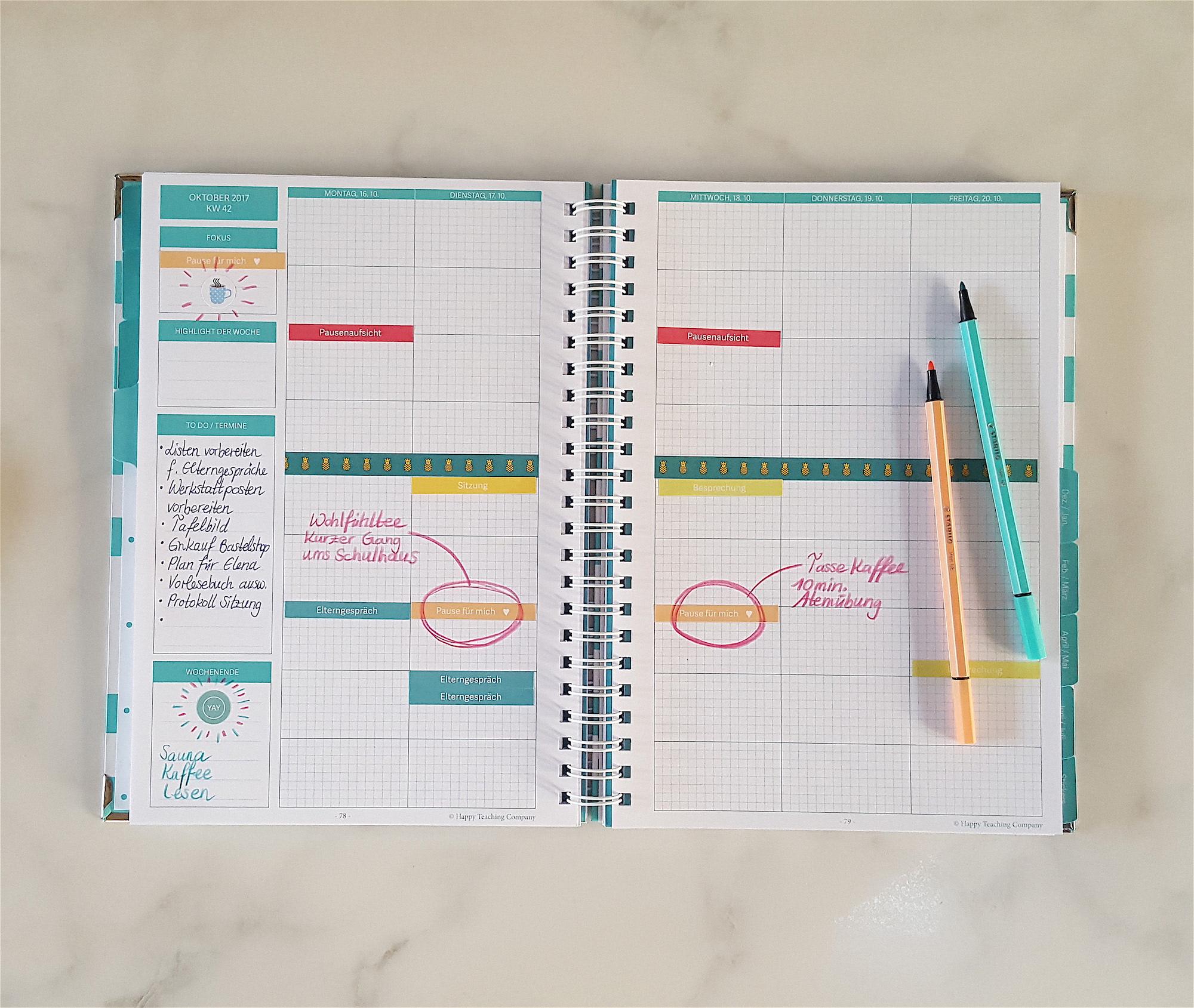 Lehrerleben, Unterrichtsplanung, Pause fuer mich, Planung, Lehrer, Lehreralltag, Lehrersticker, Lehreragenda, Lehrerkalender, Lehrerplaner
