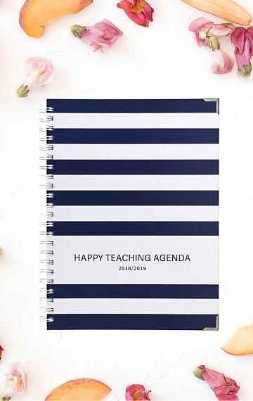 happy-teaching-agenda-stripes