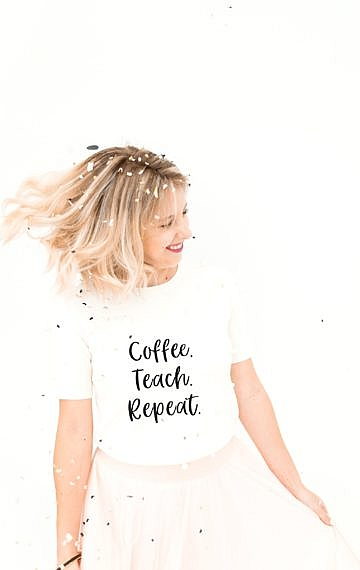 Happy Teaching-Shirt, Happy Teaching Community, Lehrergeschenke, Lehrershop, Lehrerleben, Teaching is a work of heart, Lehreralltag, Lehrer-Lifestyle