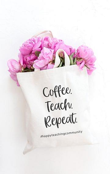 Lehrerbeutel, Happy Teaching-Tasche Happy Teaching Community, Lehrergeschenke, Lehrershop, Lehrerleben, Teaching is a work of heart, Lehreralltag, Lehrer-Lifestyle