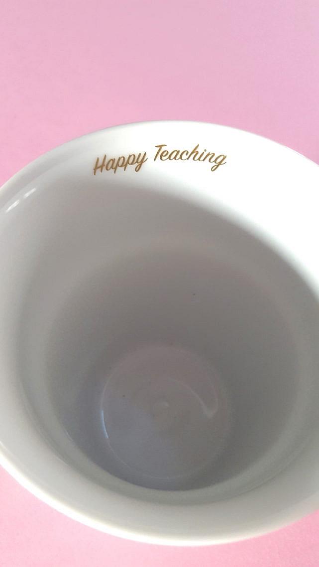 Lehrertasse, Lehrerbecher, Lehrerkaffee, Lehrergeschenk, Lehrerlifestyle, Lehrerleben, Happy Teaching Cup