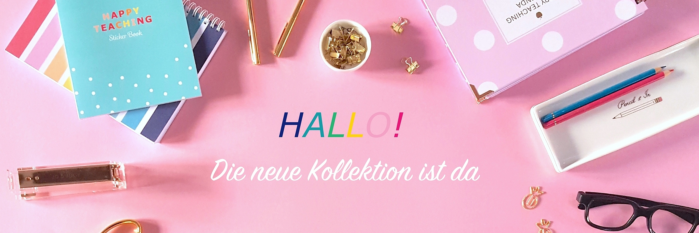 Happy Teaching Kollektion Slider schrift2