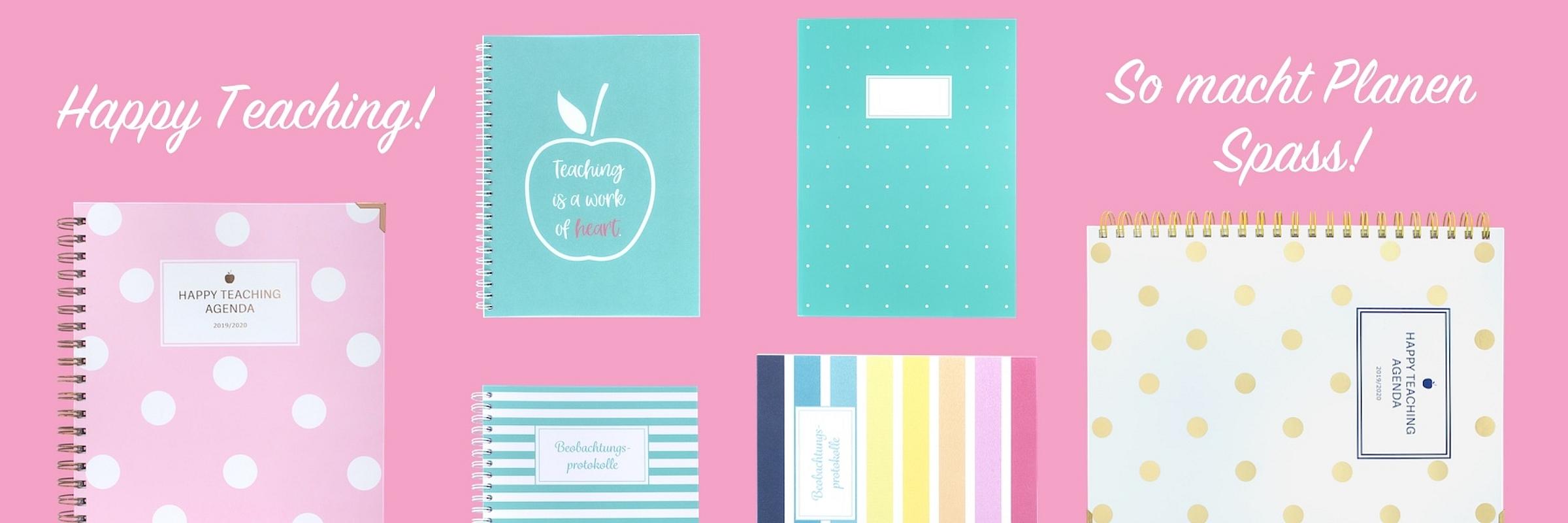 Lehreragenda 19/20, Lehrerkalender, Happy Teaching Agenda