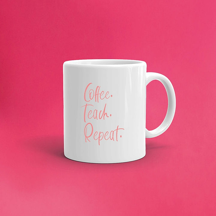 Lehrertasse, Lehrergeschenk, coffee. teach. repeat